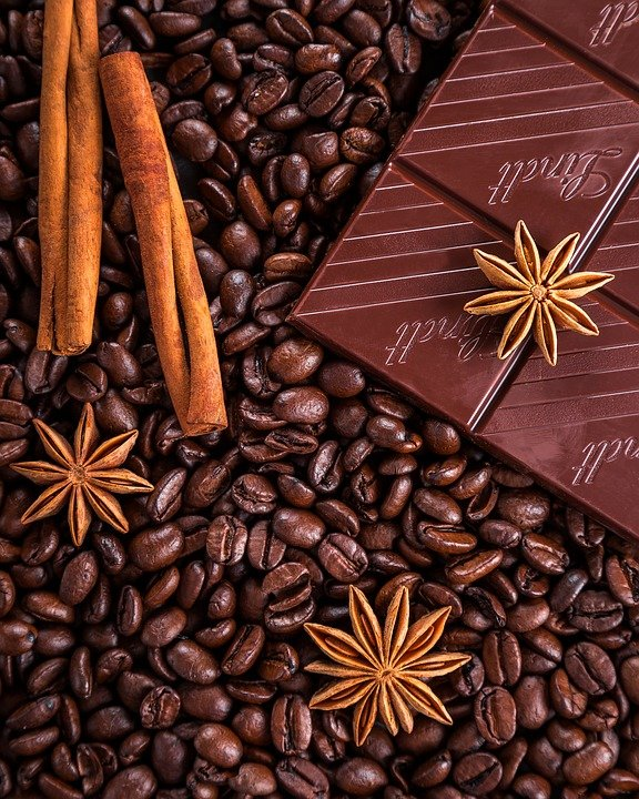Coffee, Chocolate, Cinnamon, Anise, Star Anise, Grain