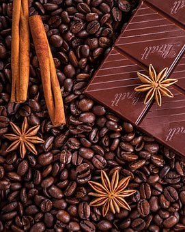 Coffee, Chocolate, Cinnamon, Anise,124 Free images of Chocolate Day Related Images: Chocolate Love Heart  Valentine's Day  Candy  Hot Chocolate  Romantic  Romance  Valentine  Sweet