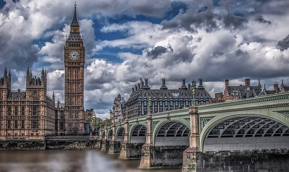 London, Big Bang, Bridge, Clouds