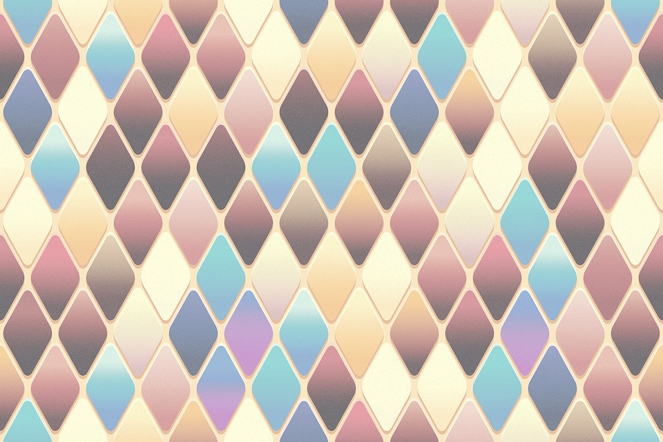 Abstract, Colorful, Background, Tile, Diamond Shape