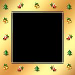 christmas, gold, frame