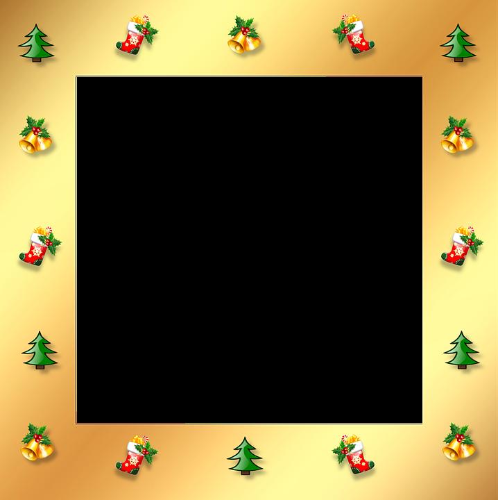 Navidad Oro Marco · Imagen gratis en Pixabay