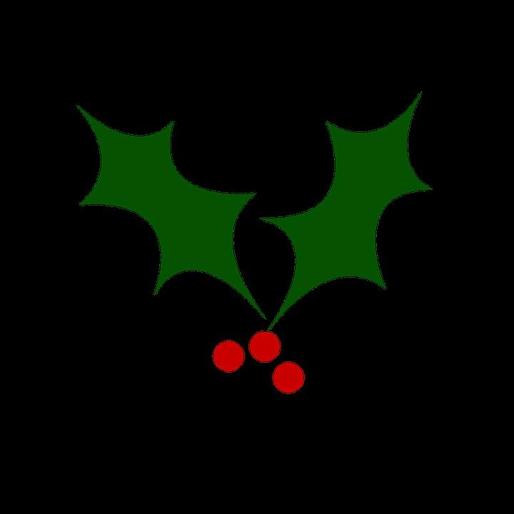 Christmas Holly Cartoon.Holly Christmas Tree Berry Free Image On Pixabay