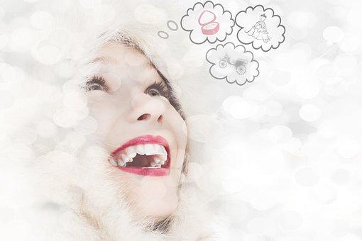 女性, 思考, 人間, 人, 顔, 単独, 思いやりのある, 夢, 感情