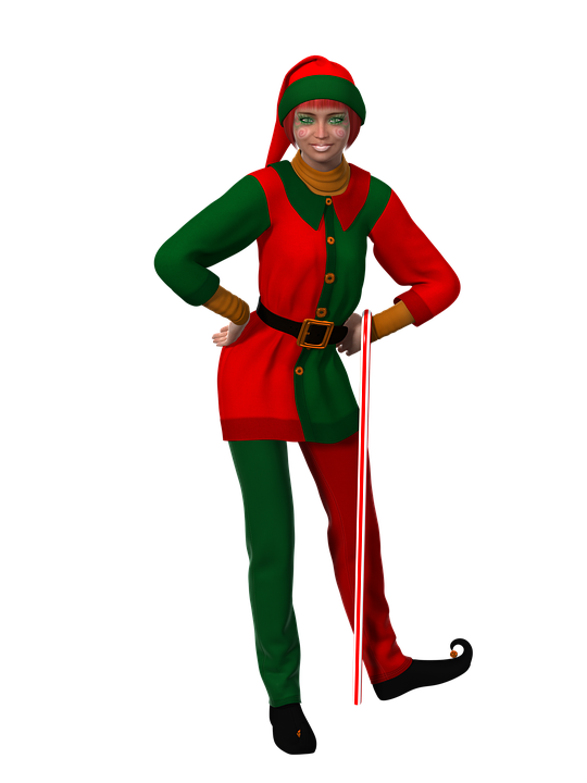 Free illustration: Woman, Christmas, Christmas Elf - Free Image on ...