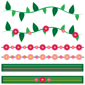 Flower Border Frame Flowers Botanic
