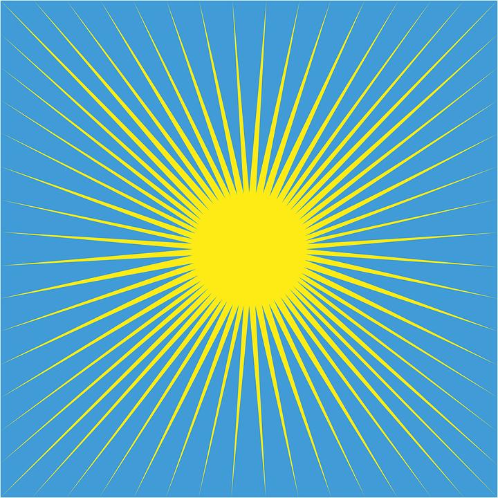 Sun Raggi Cielo Raggio Di Grafica Vettoriale Gratuita Su Pixabay