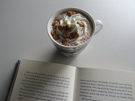Cocoa, Whipped Cream, Cookies, Read