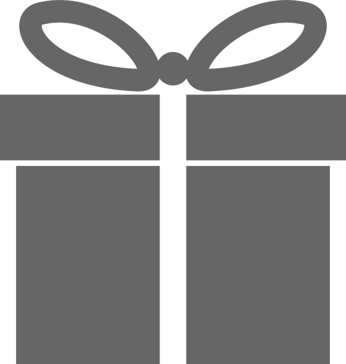 free vector graphic grey gray icon present gift
