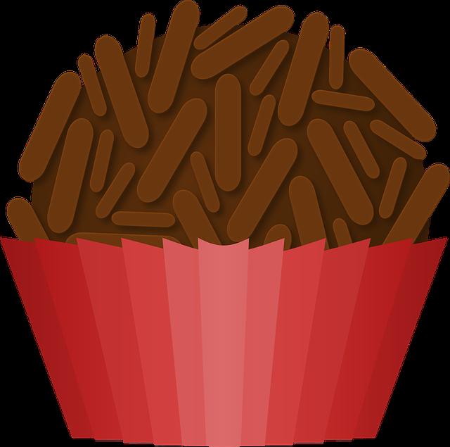 Brigadeiro Chocolate Doce Comida · Gráfico Vetorial Grátis