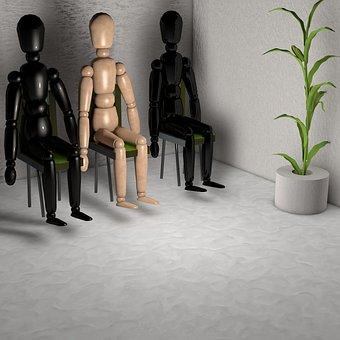 Males, Wait, Sit, Plant, Waiting Room