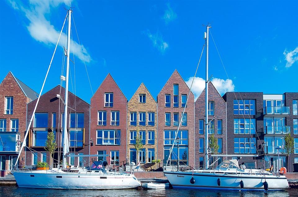 Haarlem, Nederland, Stad, Stedelijke, Gebouwen, Moderne