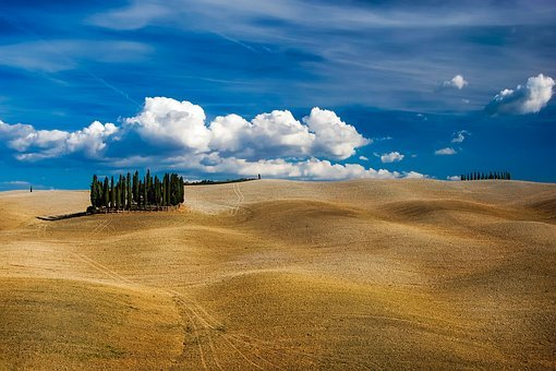 Tuscany, Italy, Hills, Rolling