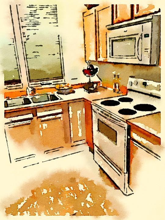 Cocina Acuarela Dibujo Imagen Gratis En Pixabay