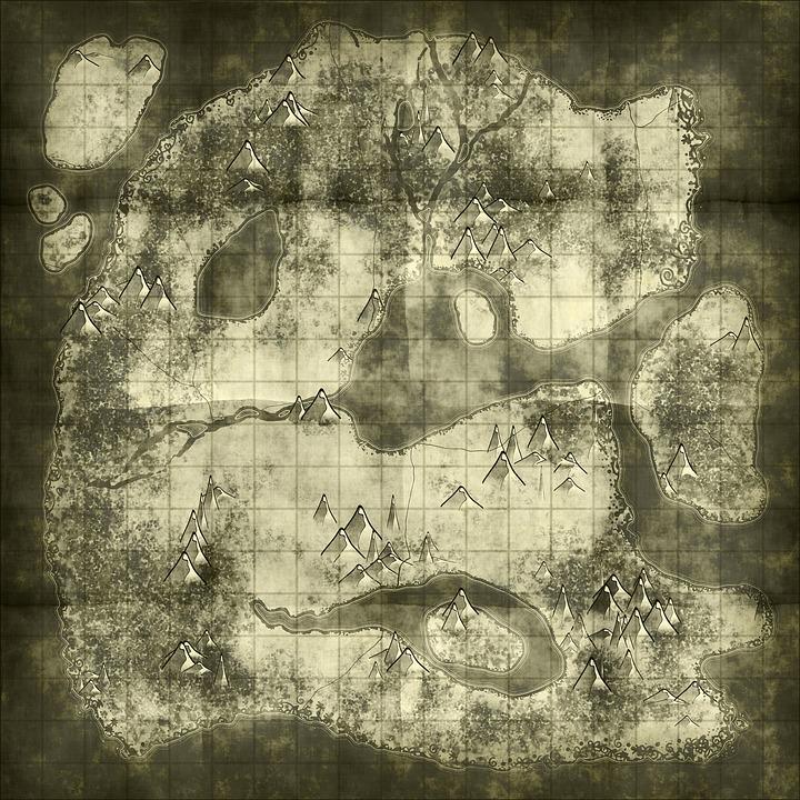 Treasure Map, Map, Old, Paper, Parchment, Antique