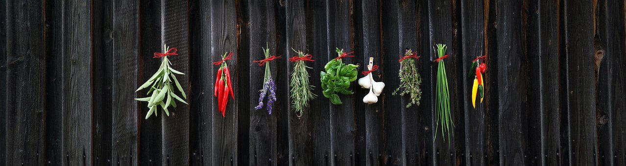 Spices, Herbs, Basil, Chives, Fresh