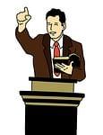 preacher, illustration, jesus christ
