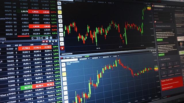 グラフ, 取引, コース, 外国為替, 分析, 株, 証券取引所