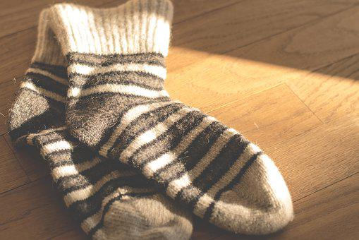 Socks, Wool, Knitting Clothing