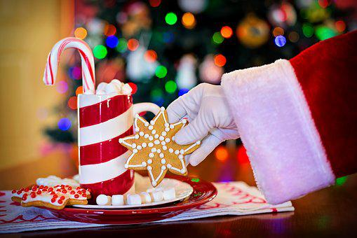 Santa Claus, Cocoa, Christmas Cookie,124 Free images of Chocolate Day Related Images: Chocolate Love Heart  Valentine's Day  Candy  Hot Chocolate  Romantic  Romance  Valentine  Sweet