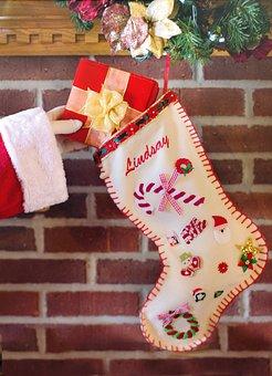 Santa'S Arm, Christmas Stocking, Gift