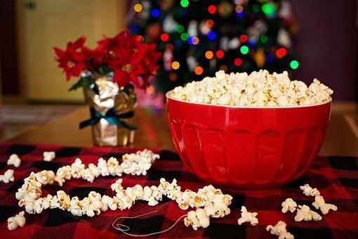 Popcorn Stringing Popcorn Christmas T