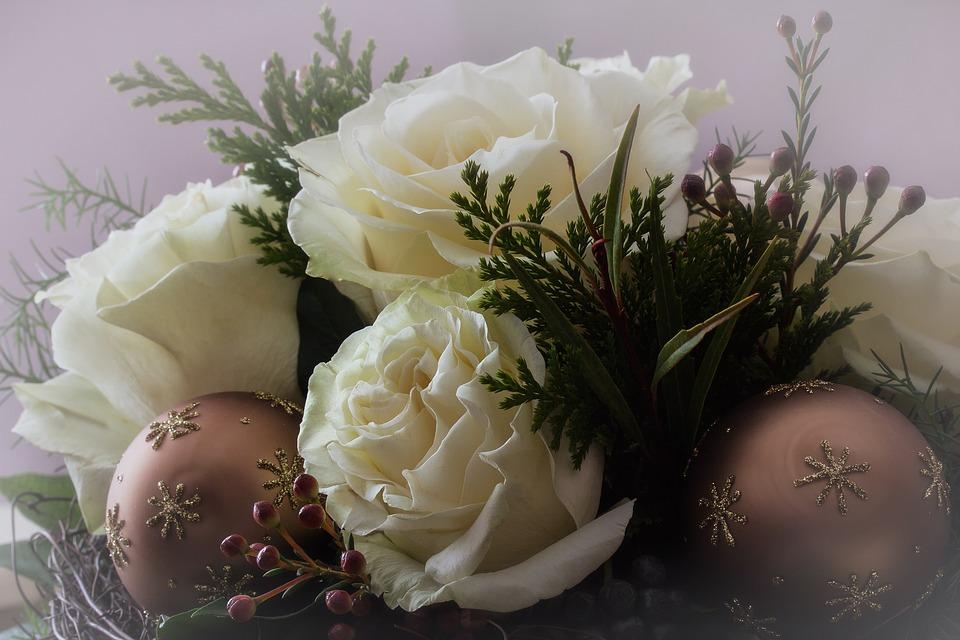 Christbaumkugeln Rose.Flowers Nature Festive Free Photo On Pixabay