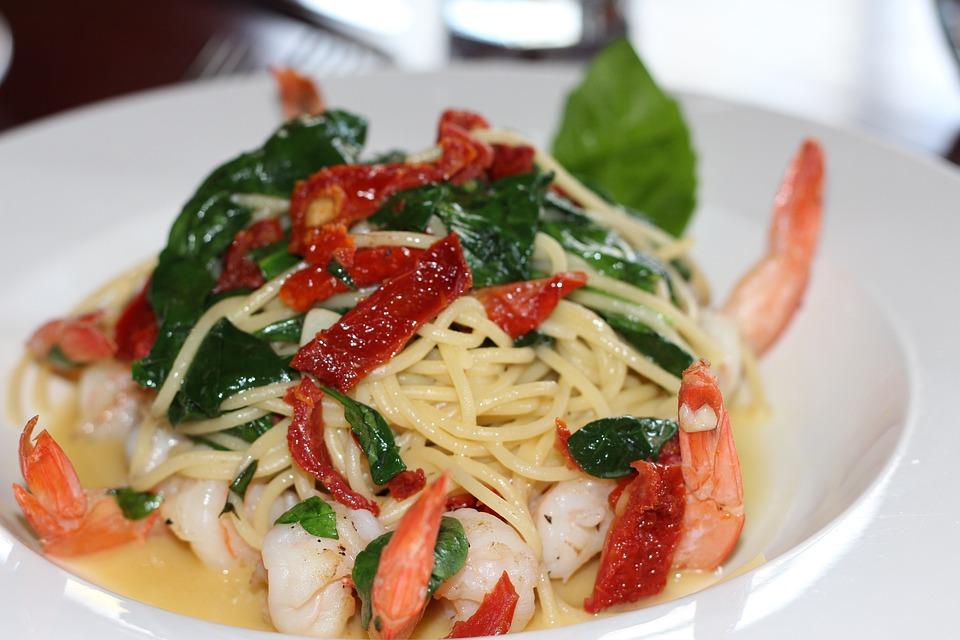 Pasta Makanan Laut Udang Lobster Foto Gratis Di Pixabay