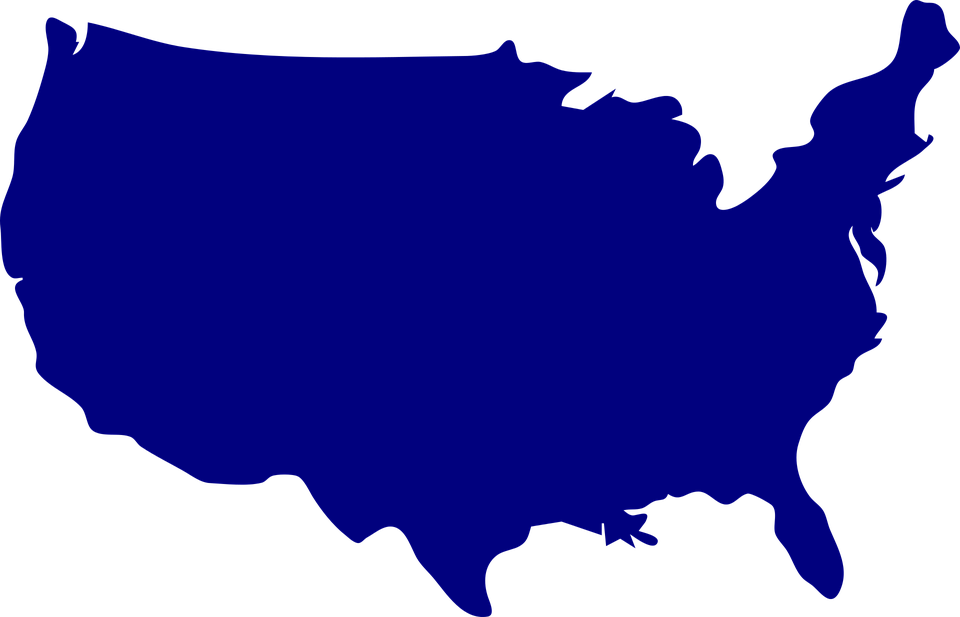 Us United States Russia Map America Flag Shape