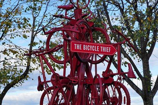 Figure, Sculpture, Bike, Art, Halifax