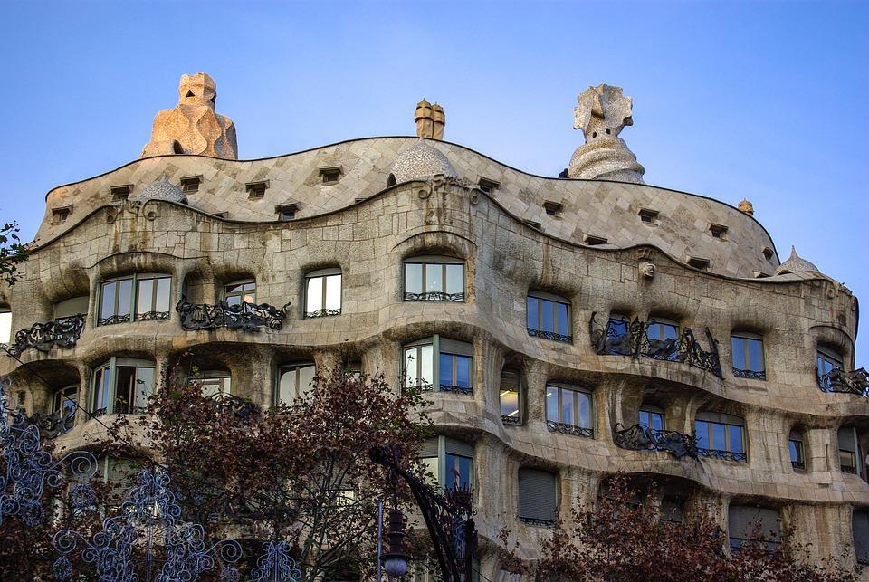 Gaudi, Casa Milà, La Construcción De, Barcelona