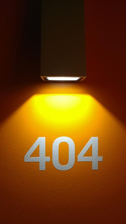 Page Not Found, Light, Shadow, Hotel, Palindrome