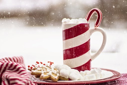 Cocoa, Hot Chocolate, Candy Cane, Mug,124 Free images of Chocolate Day Related Images: Chocolate Love Heart  Valentine's Day  Candy  Hot Chocolate  Romantic  Romance  Valentine  Sweet