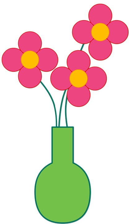 Free illustration flowers vase arrangement flower - Decorer un vase transparent ...