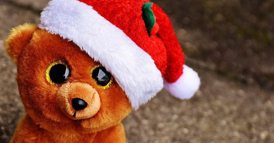 christmas teddy bear stuffed animal soft toy
