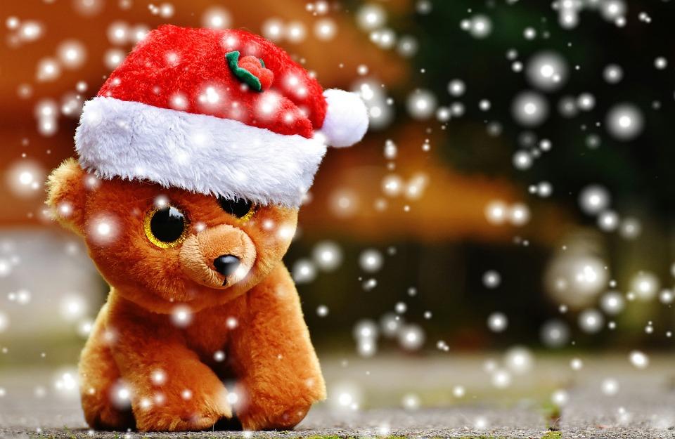 Teddy Weihnachten.Weihnachten Teddy Schnee Kostenloses Foto Auf Pixabay