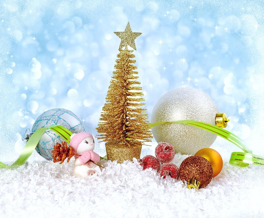 christmas new year background winter snow frost