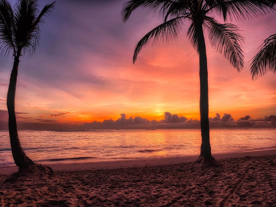 Dominikana, Sunrise, Wschód, Rano, Kolorów, Kolorowe