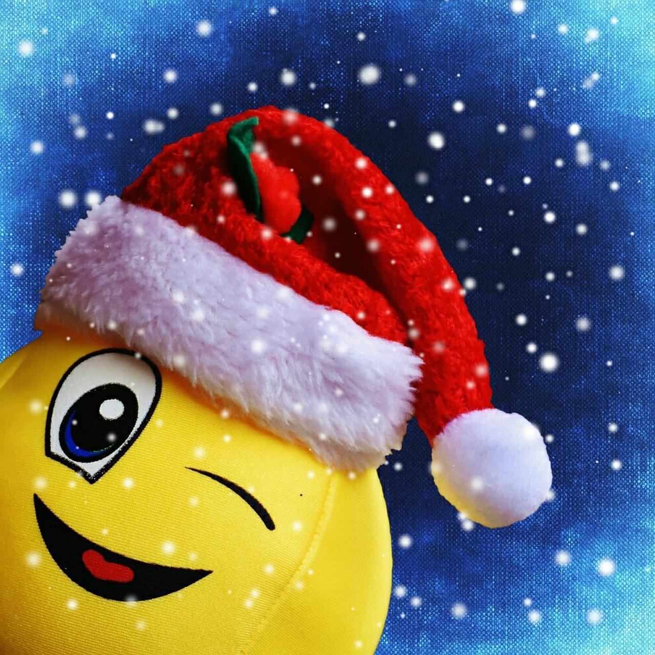 Картинка новогодний смайлик