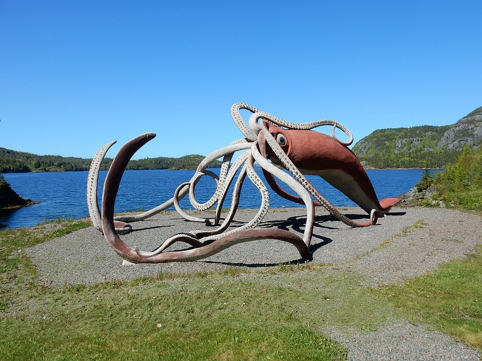 Squid Sculpture Statue Giant Free Photo On Pixabay