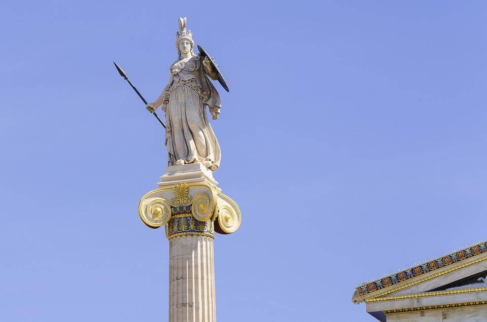 Athens, Greece, Minerva, Roman, Goddess, Wisdom, Statue