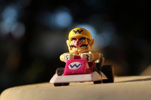 Wario, Kart, Nintendo, Jouet, Extérieur