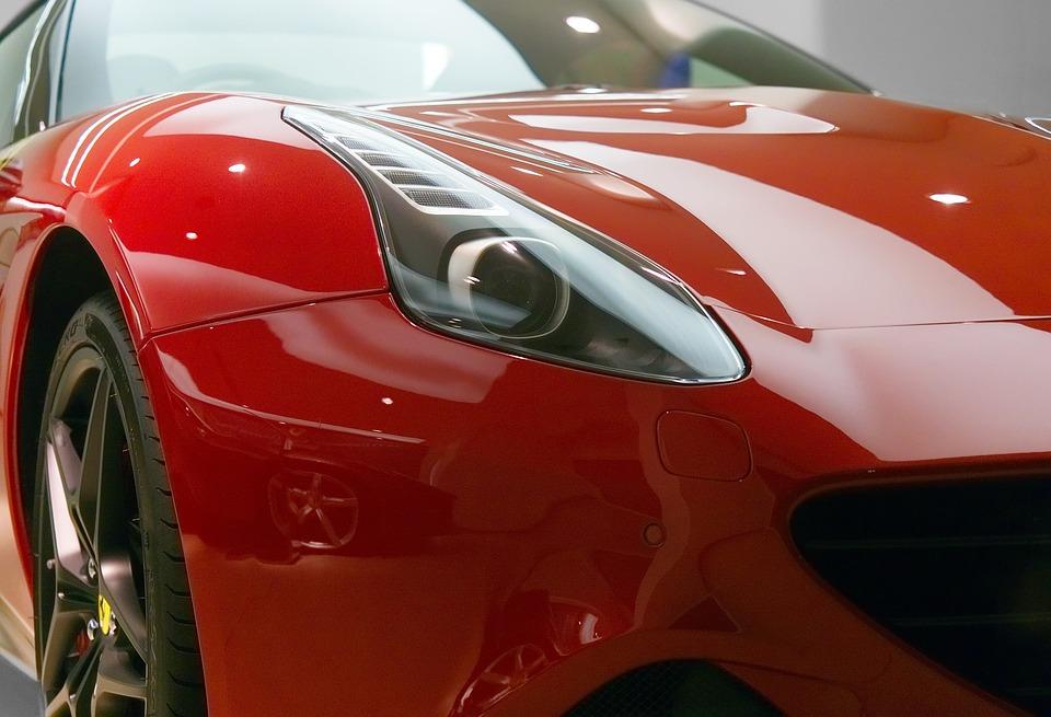 Ferrari Car Sports California Red Vehicle Design  C B Public Domain