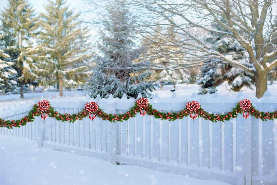 White Picket Fence Christmas Free Photo On Pixabay