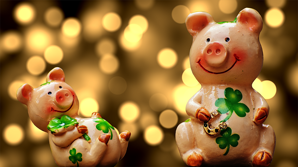 Glück, Schweinchen, Glücksschwein