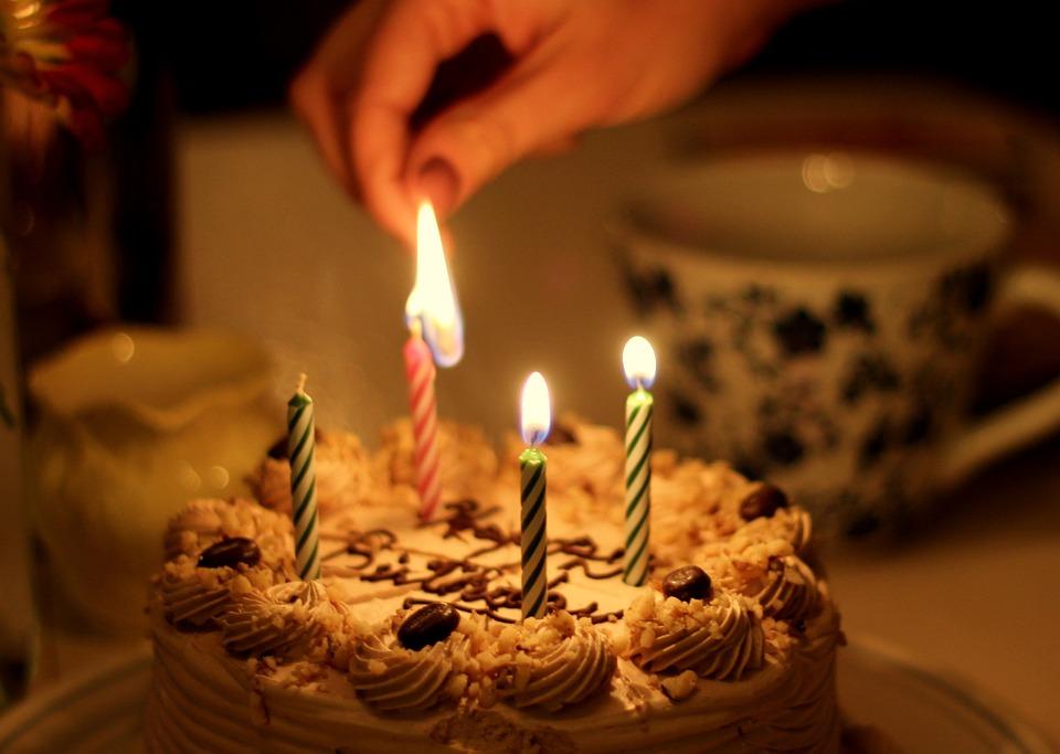 Cake Birthday Candle Set On Fire 4 Celebrating
