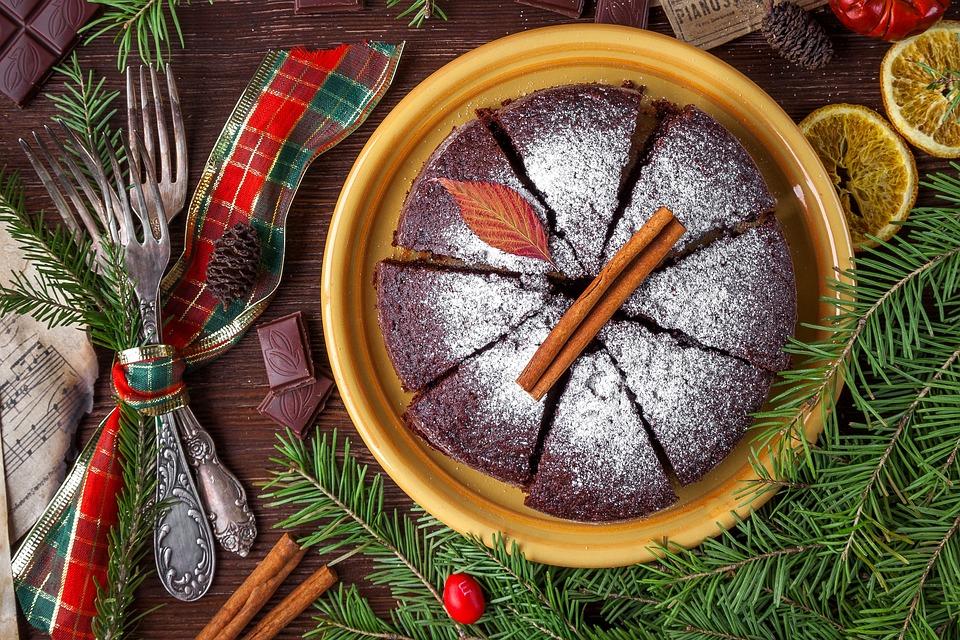 ケーキ、パイ、クリスマスケーキ、食品、お菓子、スポンジケーキ
