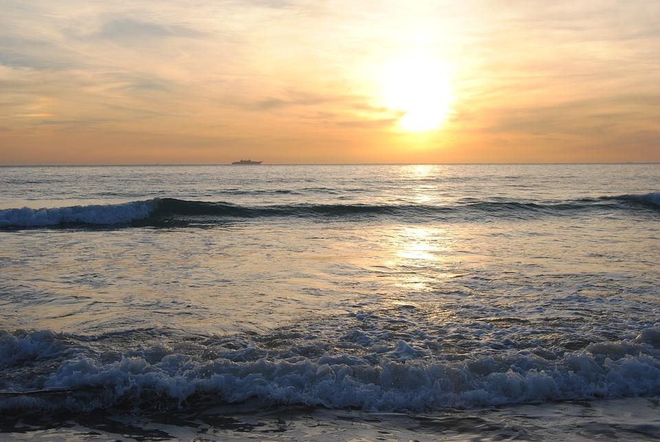 Atardecer, Playa, Zahara De Los Atunes, Tarde, Orilla