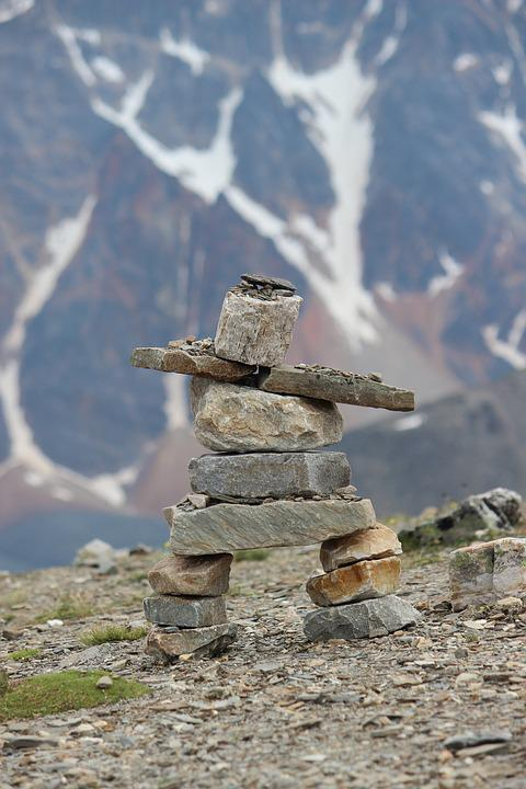 Inukshuk Rock Cairn Free Photo On Pixabay