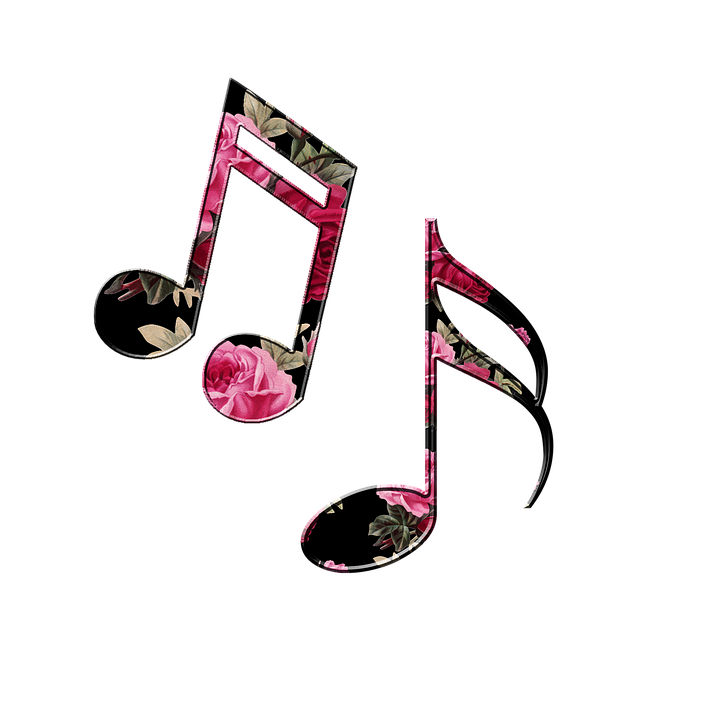 music notes backgrounds floral - photo #40